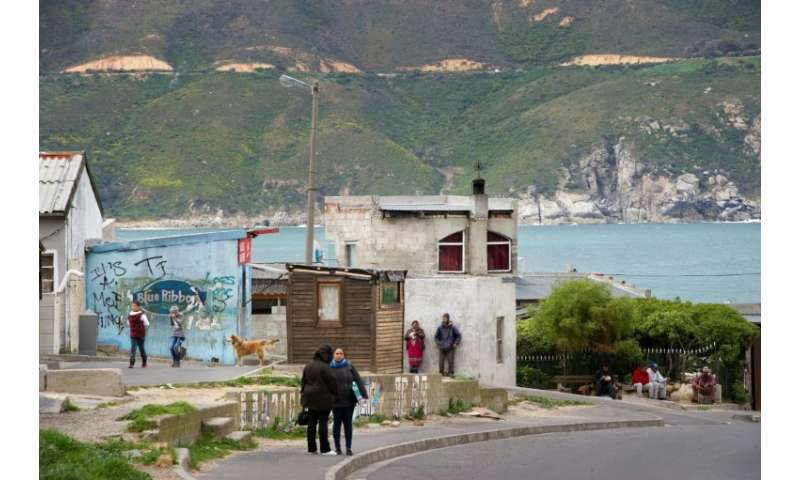 The neighbourhood of Hangberg in the South African fishing town of Hout Bay, shortly after fisherman Durick van Blerk went missi