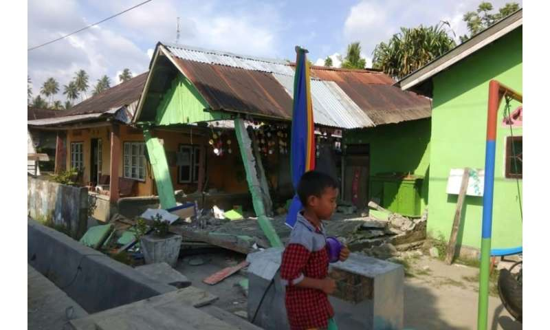 The quake hit Indonesia's central Sulawesi island at a shallow depth of some 10 kilometres
