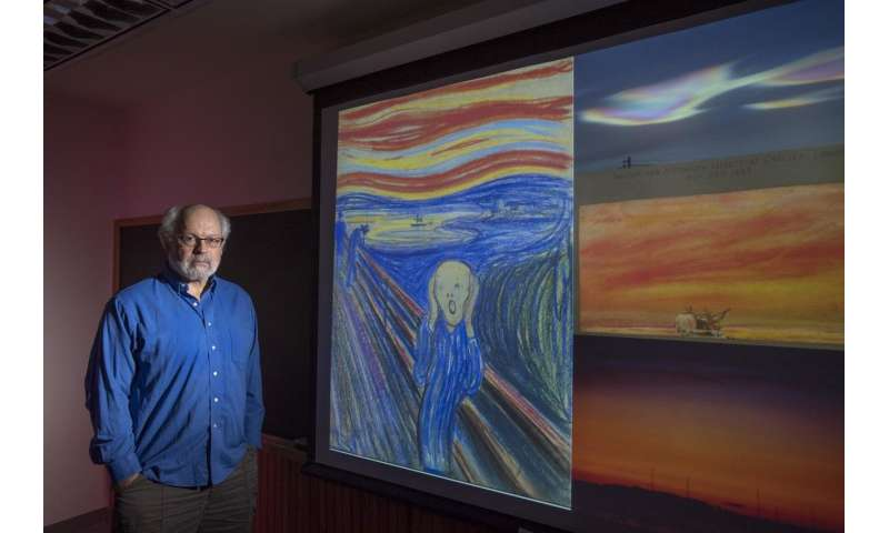The Scream: What were those colorful, wavy clouds in Edvard Munch's famous painting?