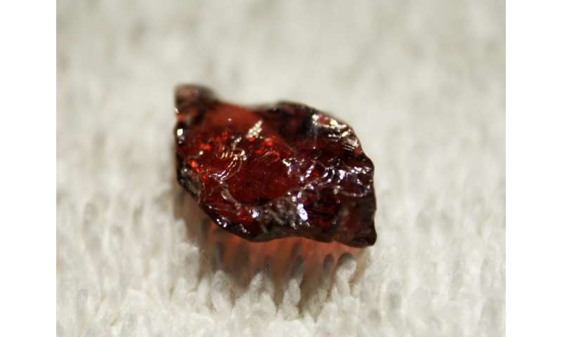 The secrets of garnet reveal source of water to fuel powerful volcanoes and earthquakes