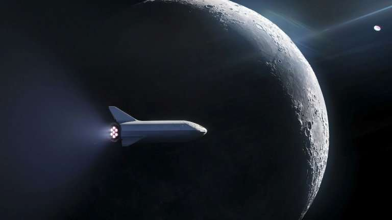 The shape of SpaceX's Big Falcon Rocket, shown in an artist's illustration, is reminiscent of the space shuttle