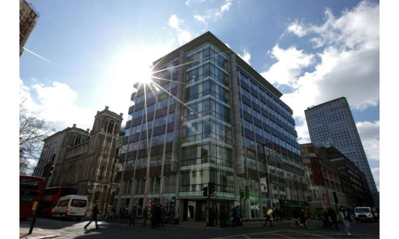 The shared building which houses the offices of Cambridge Analytica are pictured in central London