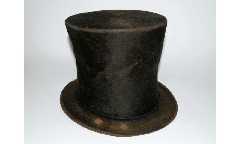 The stovepipe hat which DNA testing did not conclusively show had belonged to President Abraham Lincoln