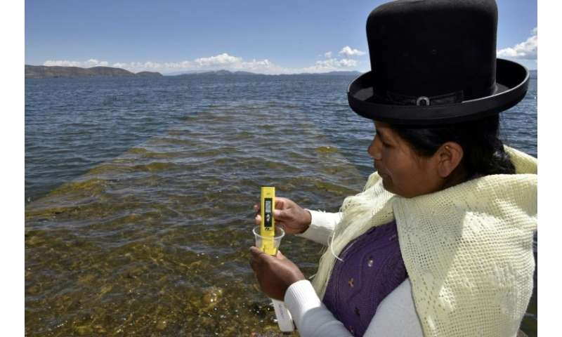 The wastewater contamination comes mainly from three urban centers around the lake, which straddles the Peru-Bolivia border