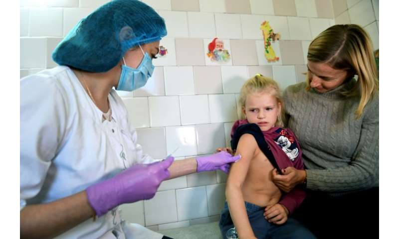 The World Health Organization (WHO) recommends a 98-percent vaccination rate to prevent mass hospitalisations and fatalities fro