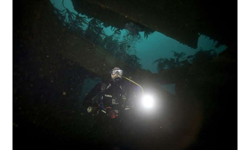 The wreck of the super tanker Amoco-Cadiz has become a popular haunt for divers