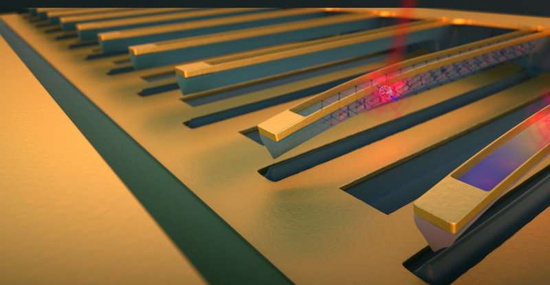 Tunable diamond string may hold key to quantum memory