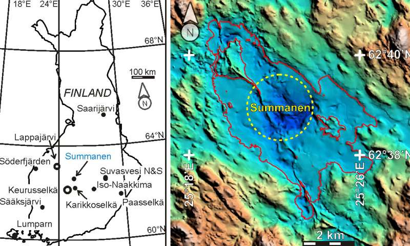 Twelfth impact structure discovered in Central Finland