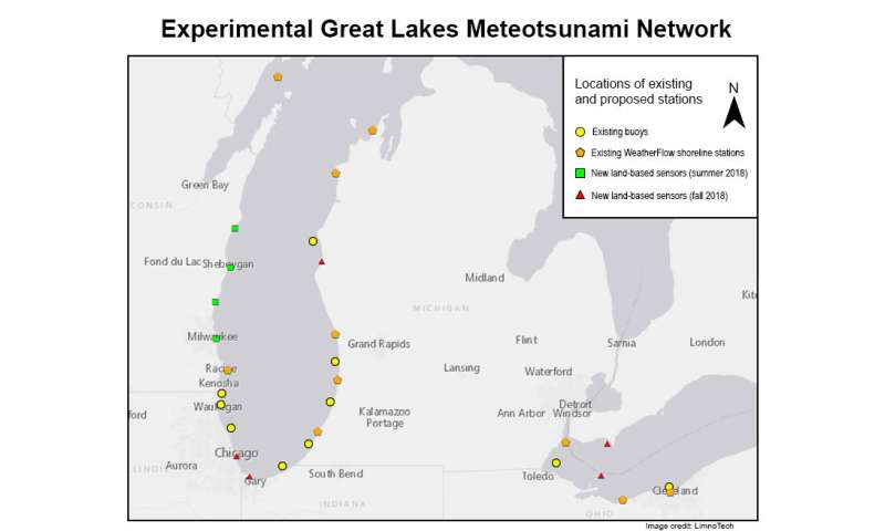 U-M pilot project to warn of potentially dangerous 'meteotsunami' waves in Great Lakes