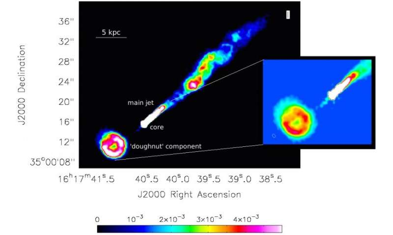Unusual doughnut-shaped jet observed in the galaxy NGC 6109