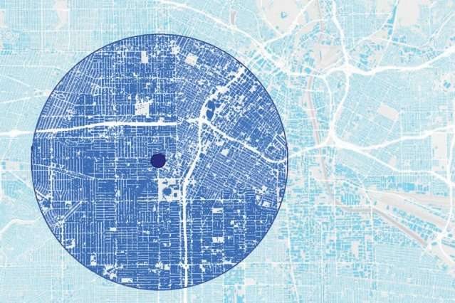 Urban heat island effects depend on a city's layout