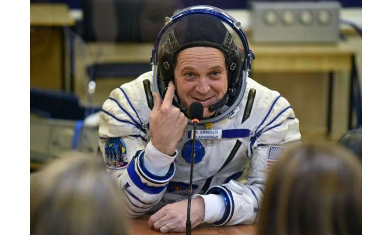 US astronaut Richard Arnold—shown here before heading to the International Space Station—is one of two Americans undertaking a s