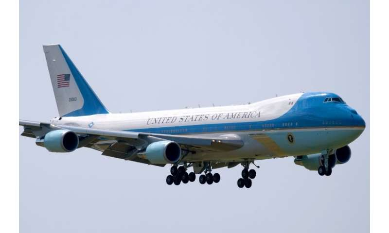 US presidents have used a specially-outfitted Boeing 747 as Air Force One since 1990