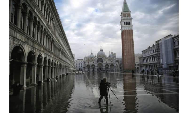 Venice, which already sometimes experiences flooding, is one of the cities rimming the Mediterranean deeply threatened by rising