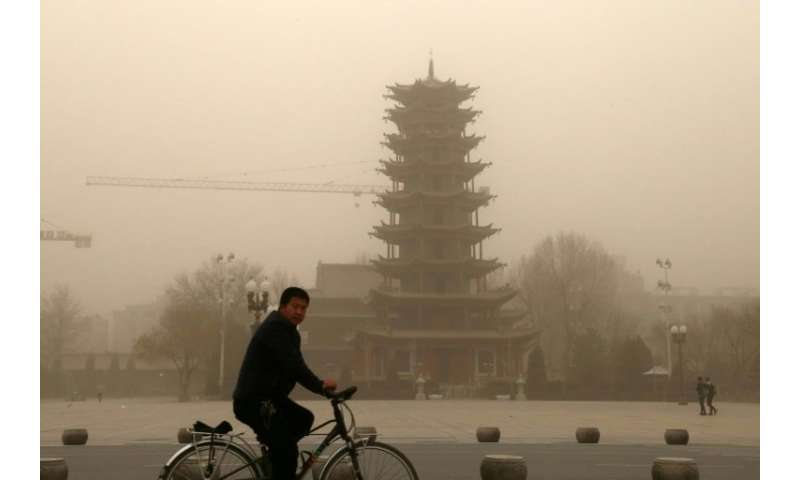 Visibility went below 100 metres (328 feet) in parts of Zhangye City in Gansu province
