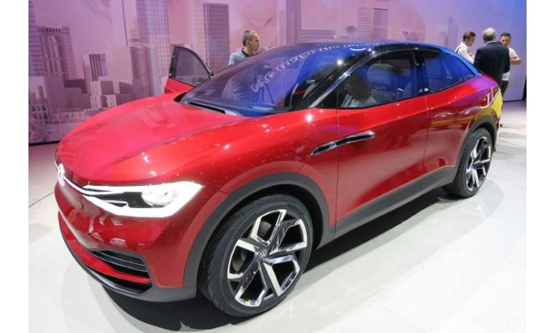 Volkswagen and its fellow German carmakers are spending heavily to develop electric vehicles, like this I.D. concept car VW pres