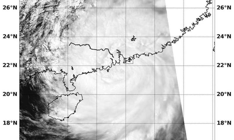 Warnings were up for Hong Kong for Typhoon Mangkhut after landfall