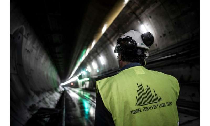 When finished, the tunnel on the Lyon-Turin train line is expected to stretch for nearly 60 kilometres across the French-Italian