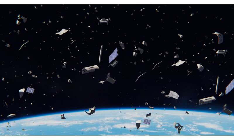 debris in space