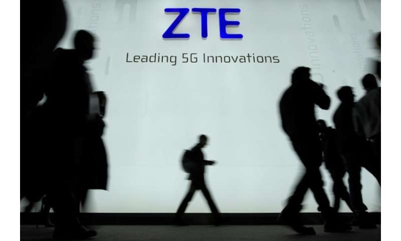 ZTE said the seven-year ban on buying US technology 'seriously endangers' its survival and added 'we cannot accept it!'