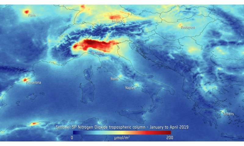 19 EU member states record nitrogen dioxide concentrations above the annual limit value in 2018