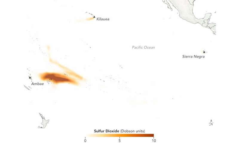 2018's biggest volcanic eruption of sulfur dioxide