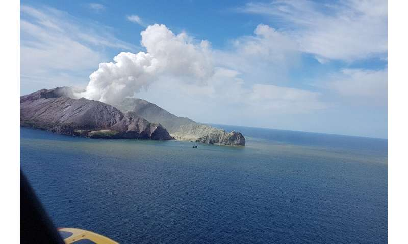 According to New Zealand authorities there has been a steady decline in activity at the volcano on White Island but it remains u