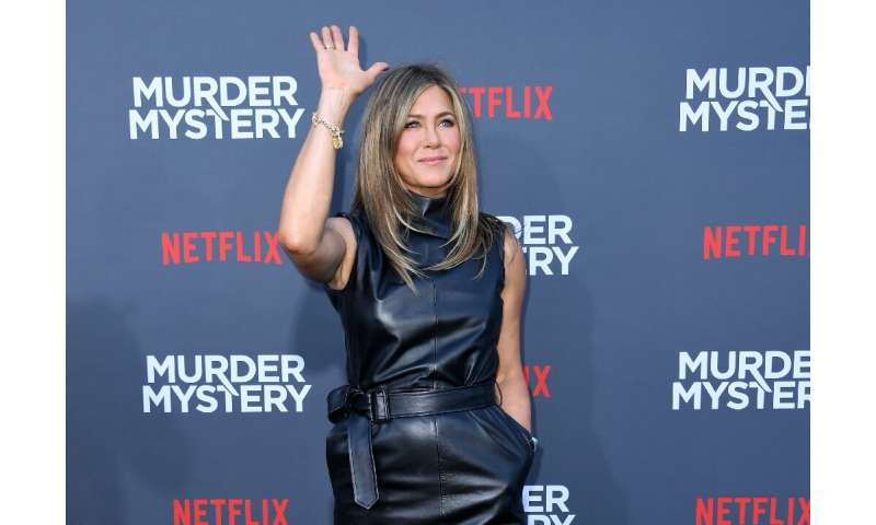 "Actress Jennifer Aniston arrives to attend the Los Angeles premiere screening of the Netflix film ""Murder Mystery"" at"
