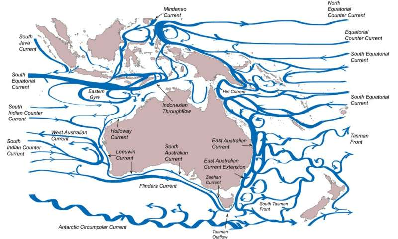 A current affair: the movement of ocean waters around Australia