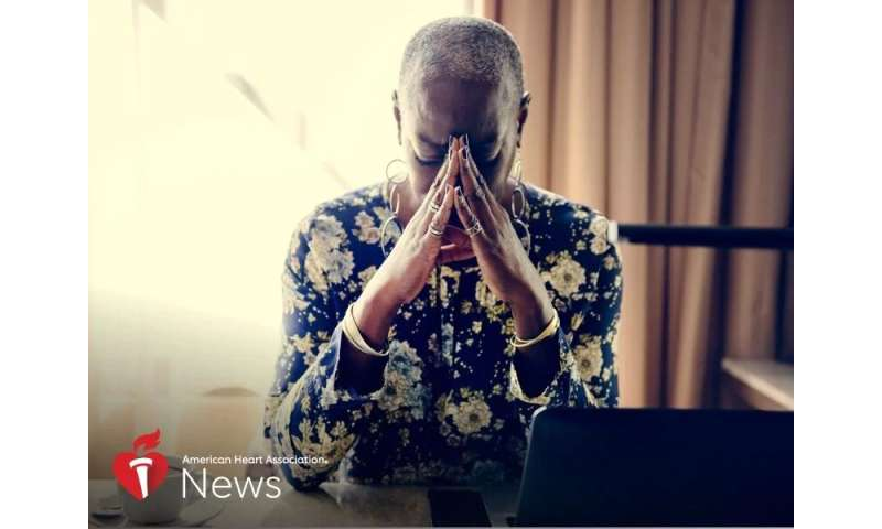 AHA news: stress from work, home can harm women's hearts