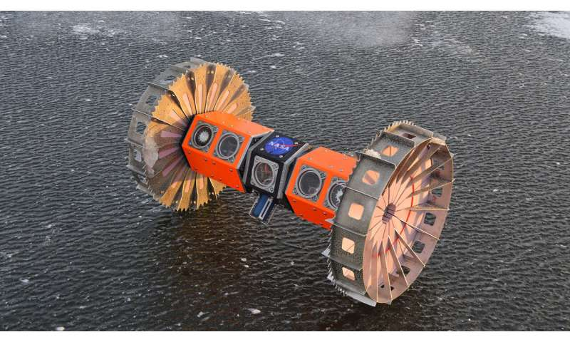 Aquatic rover goes for a drive under the ice