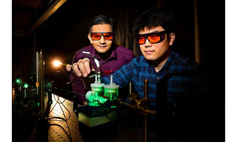 Artificial photosynthesis transforms carbon dioxide into liquefiable fuels