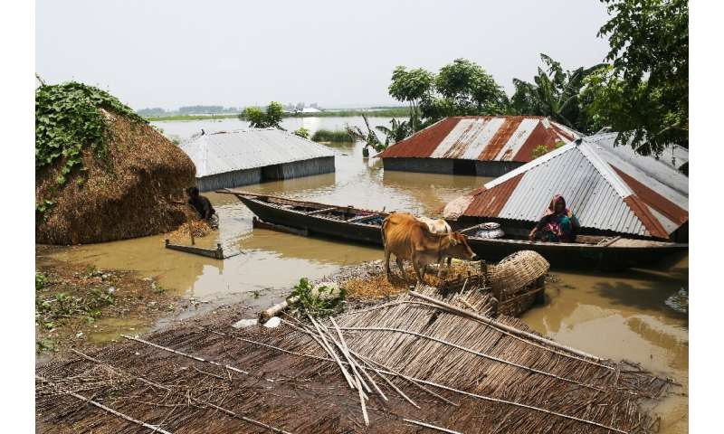 Bangladesh has been particularly hard hit by the monsoon, with about a third of the country now under water