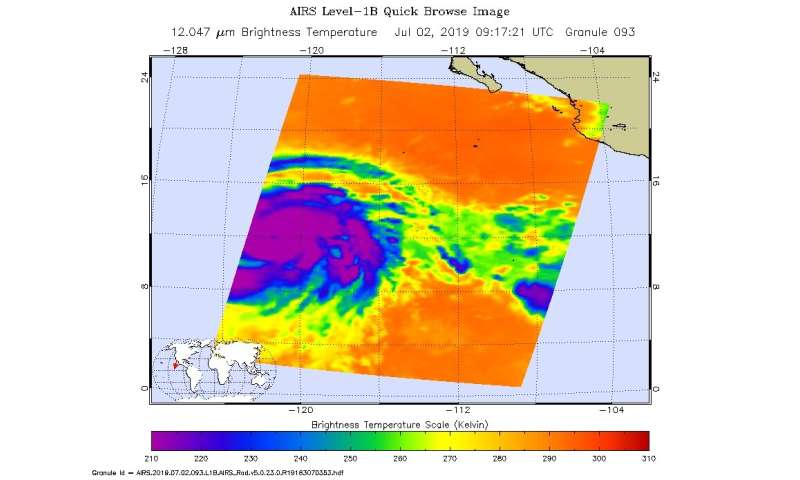 Barbara now a major hurricane on NASA satellite imagery