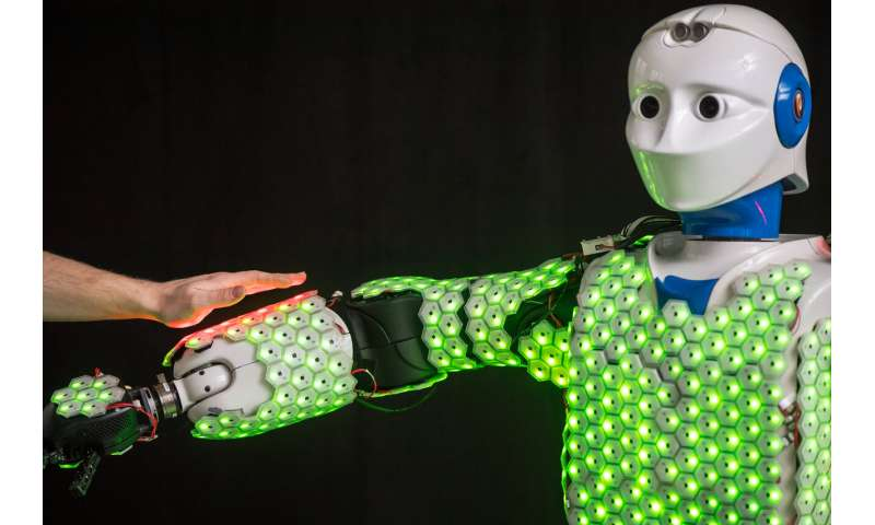 Biologically-inspired skin improves robots' sensory abilities