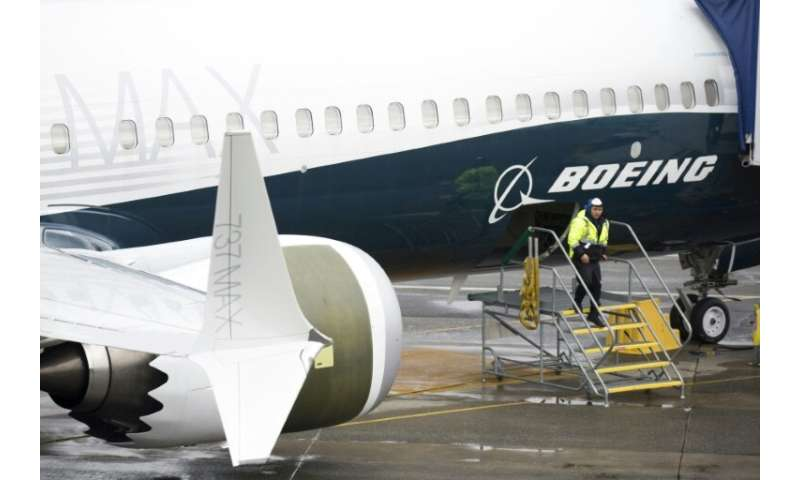 Boeing reported a steep drop in first-quarter commercial plane deliveries due to the grounding of the 737 MAX planes following t