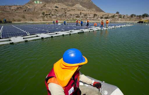 Chile tests floating solar panels to power mine, save water