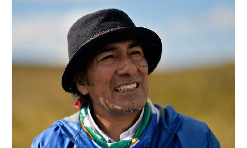 Community leader Yaku Perez, who is leading the indigenous struggle against the threat to water resources posed by mining compan