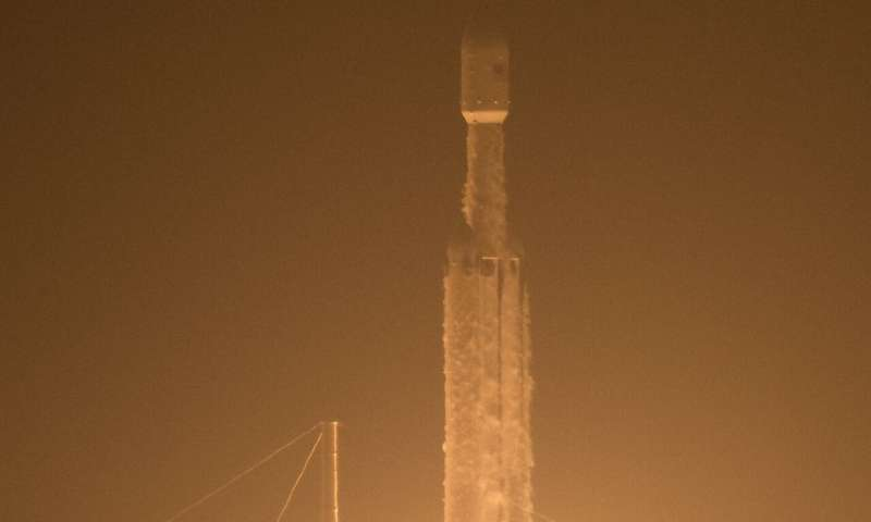 COSMIC-2 soars into orbit aboard SpaceX Falcon Heavy rocketJune 25, 2019