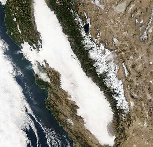 Falling levels of air pollution drove decline in California's tule fog