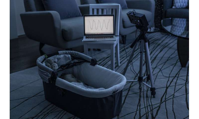 First smart speaker system that uses white noise to monitor infants' breathing