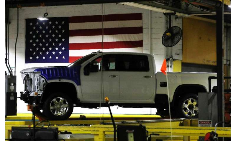 General Motors reported higher second-quarter profits, with sales of pricey pickup trucks in North America making up for lower o