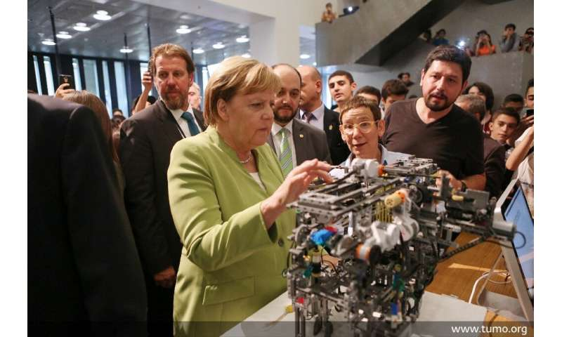 "German Chancellor Angela Merkel visited the Tumo school last year, calling it a ""philosophy"""