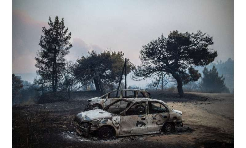 Greece has been hit by a spate of wildfires since the weekend