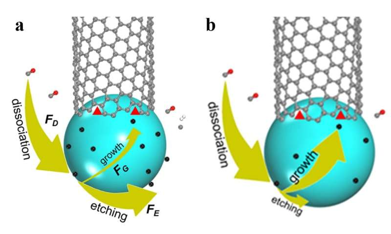 Growing carbon nanotubes with the right twist