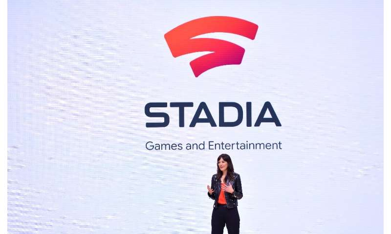 Head of Stadia Games and Entertainment Jade Raymond speaks during the annual Game Developers Conference in San Francisco, Califo