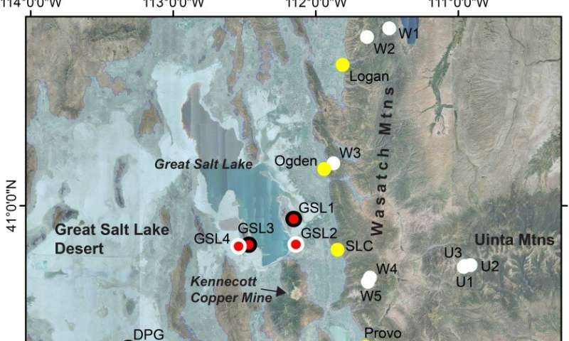 How are local dry lakes impacting air quality and human health?