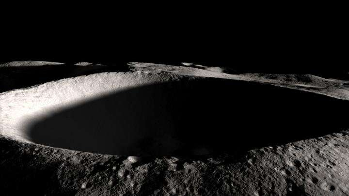 Inside dark, polar moon craters, water not as invincible as expected, scientists argue
