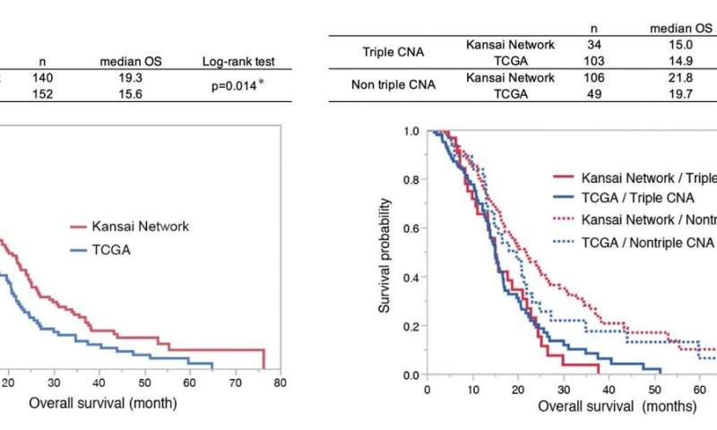 Interregional differences in somatic genetic landscape diversify prognosis in glioblastoma