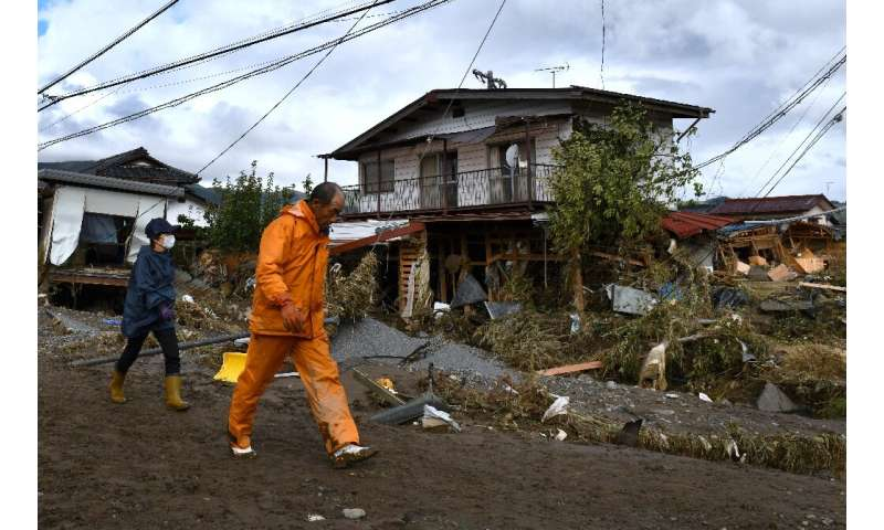 Japan was hit by deadly typhoon Hagibis about two weeks ago